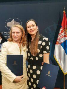 Наташа Адамовић и Јелена Јовановић